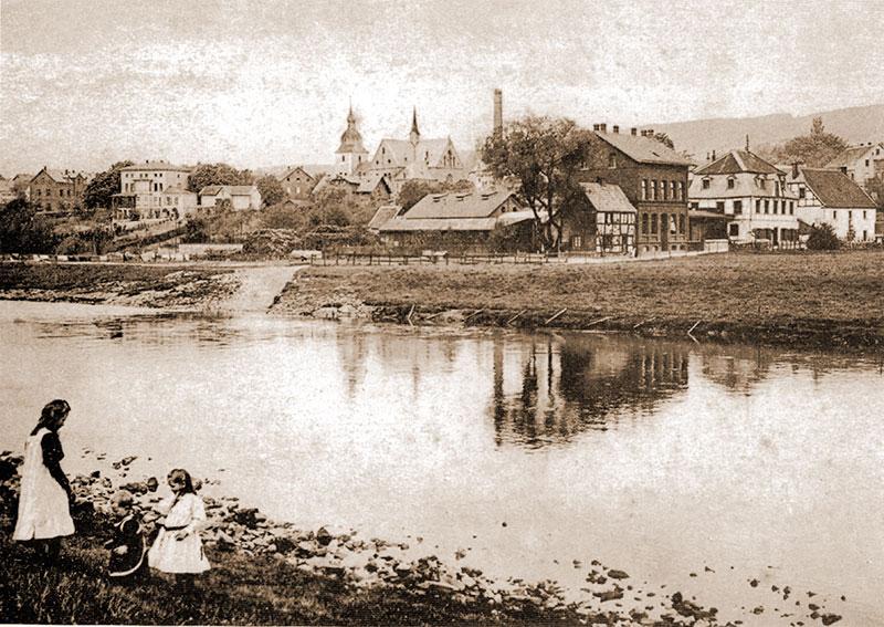 Lenne - alte Kilianskirche - Messingwalze