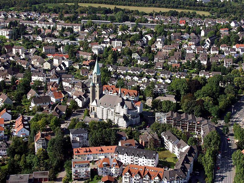 Luftbildaufnahme Kiliansdom - Nordfeld