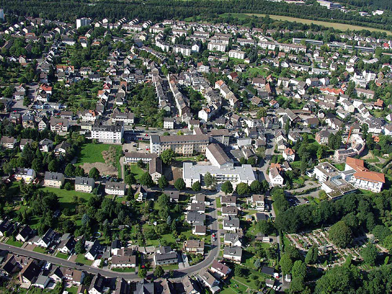 Luftbildaufnahme Dümpelacker - Marienhospital - Oberdorf - Nordfeld