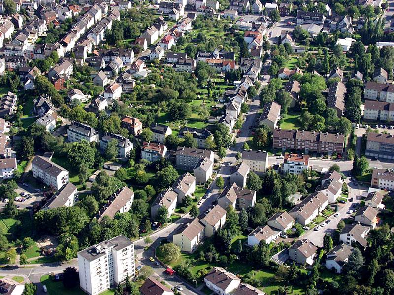 Luftbildaufnahme Nordfeld - Oberdorf
