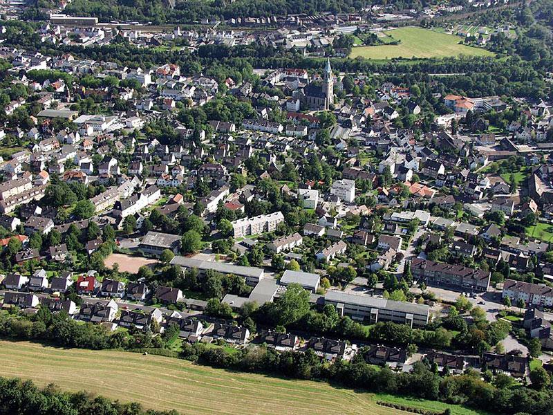 Luftbildaufnahme Nordfeld - Innenstadt - Genna