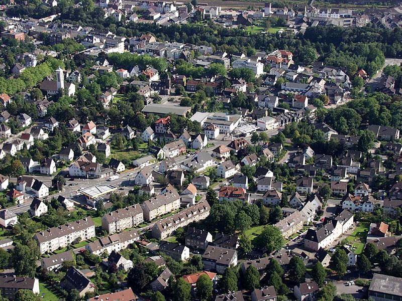 Luftbildaufnahme Schwerter Straße - Innenstadt - Genna