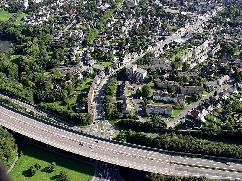 Luftbildaufnahme Autobahn A46 - Schwerter Straße