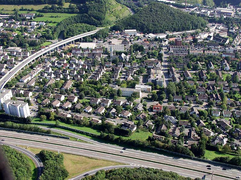 Luftbildaufnahme Oestricher Unterfeld