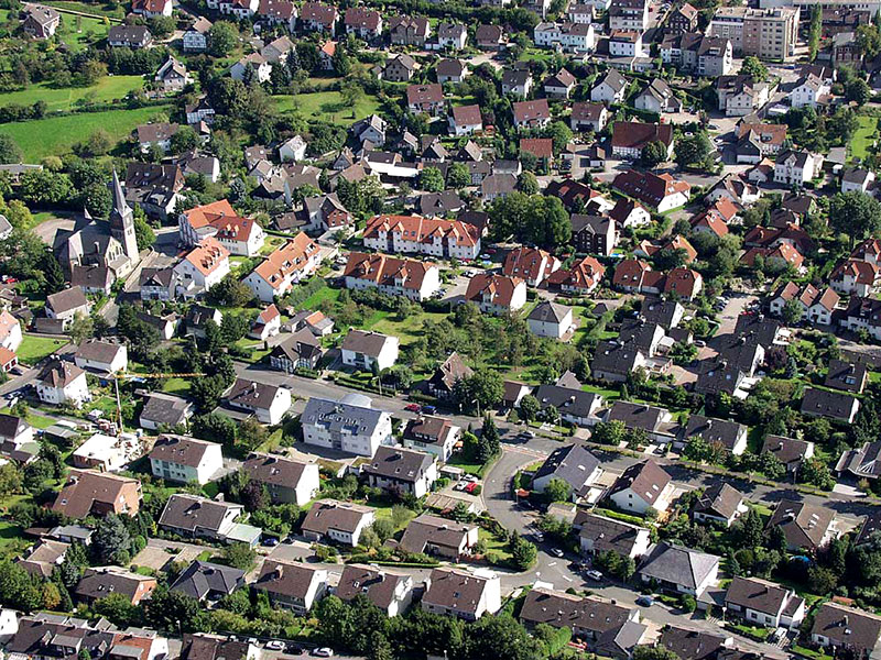 Luftbildaufnahme Oestrich