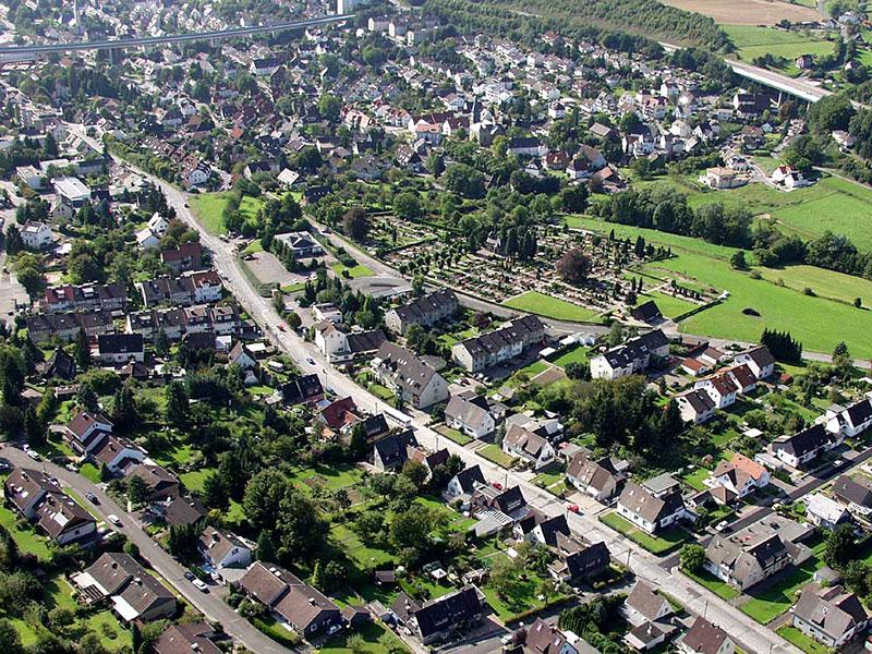 Luftbildaufnahme Kampstraße - Oestrich