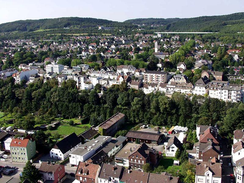 Luftbildaufnahme Genna - Innenstadt Letmathe<
