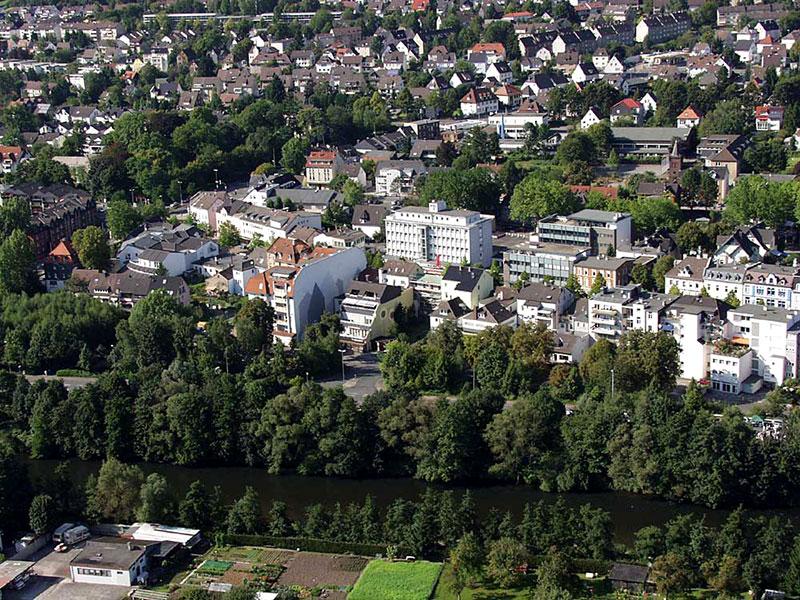 Luftbildaufnahme Letmathe Innenstadt