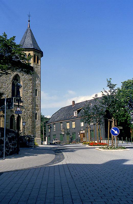 Evangelische Kirche - Gaststätte Holtschmit