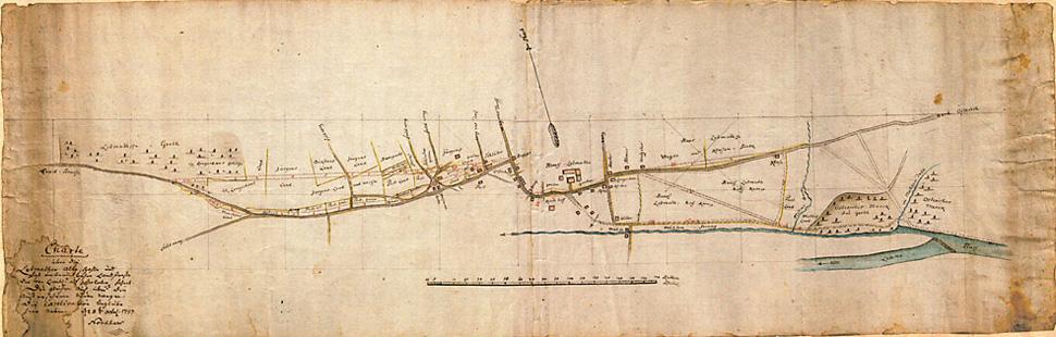 Hagener Straße - Historische Karte von 1797