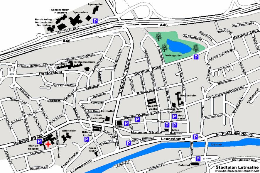 Stadtplan Letmathe