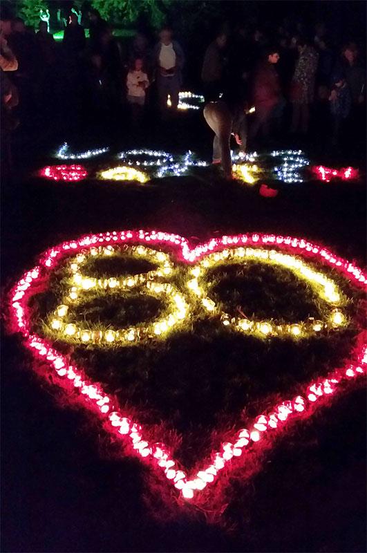 Lichterwettbewerb - Jubiläumsfest 80 Jahre Letmather Volksgarten