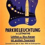 Volksgarten Plakat Parkbeleuchtung (1950)