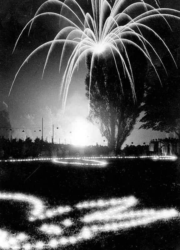 Volksgarten Parkbeleuchtung (1955)