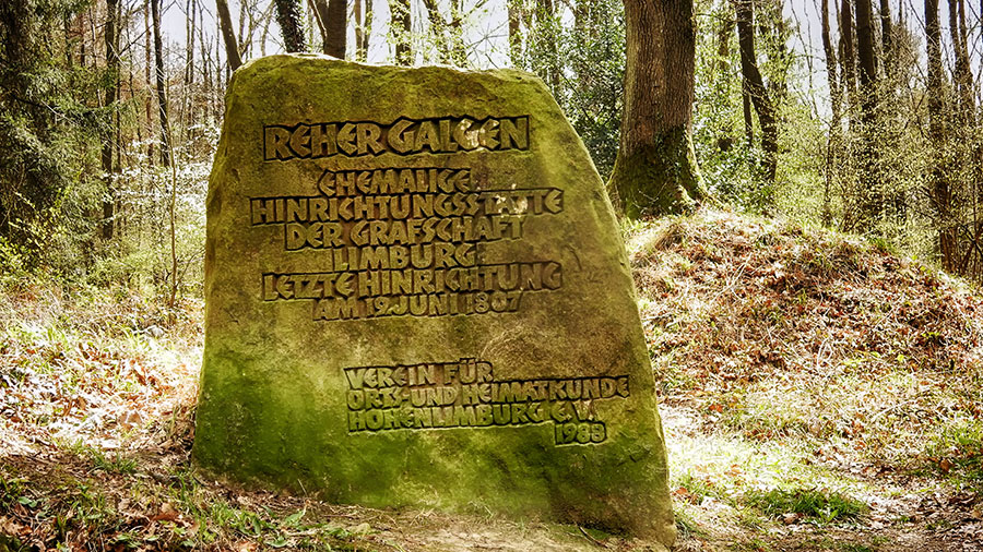 Reher Galgen an der Schälker Landstraße - Hinrichtungsstätte der Grafschaft Limburg Foto: Ulrich Dornhoff